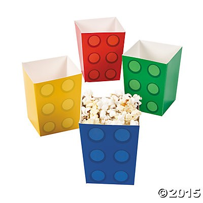 Lego Popcorn Boxes - 4 Pack