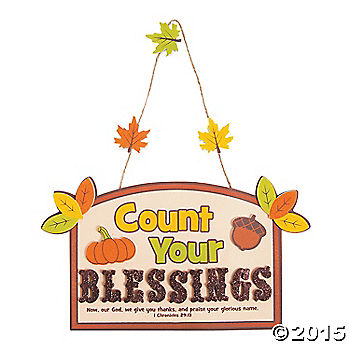 Count Your Blessings Sign Craft Kit - 12 per pk