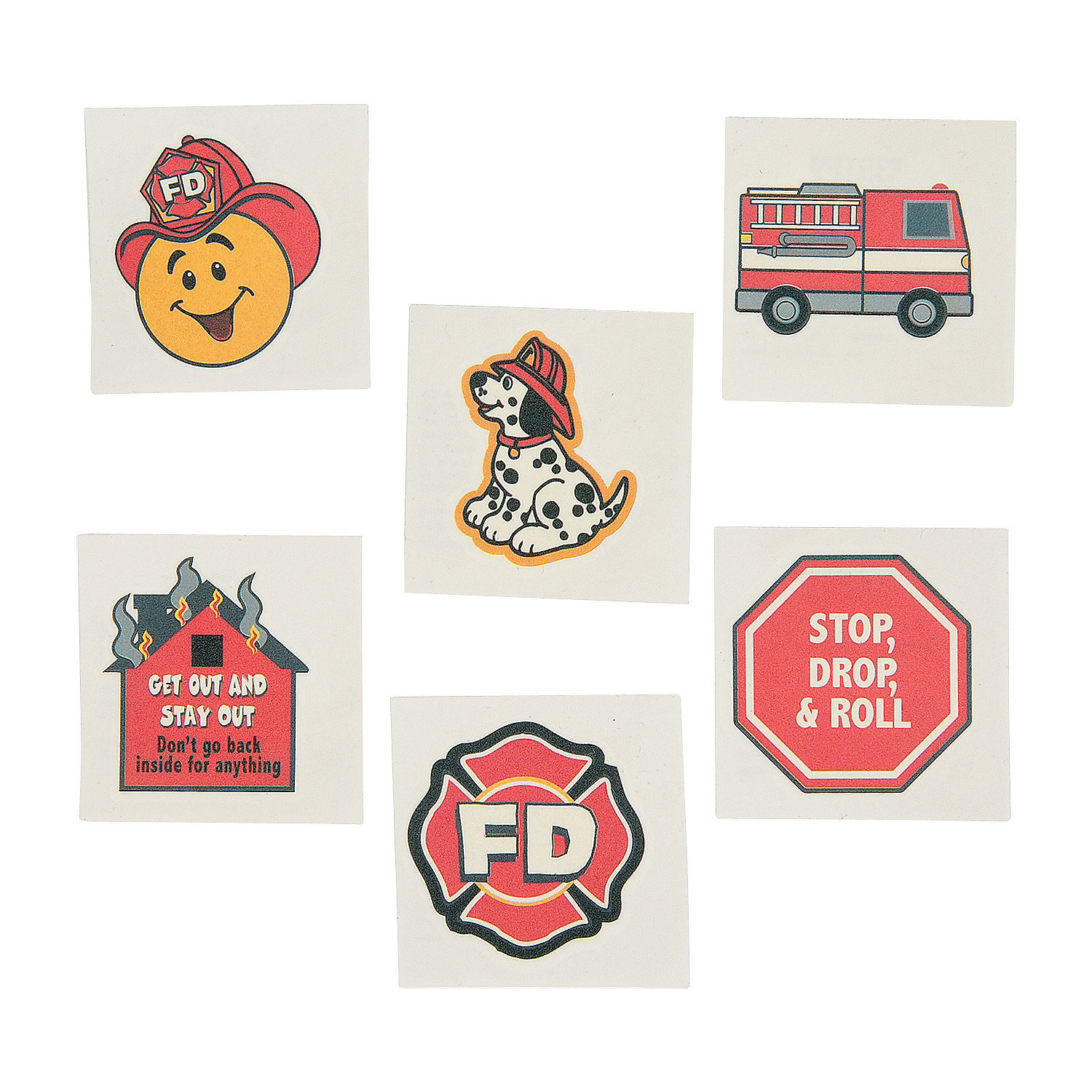 Fire Safety Tattoos - 72pk