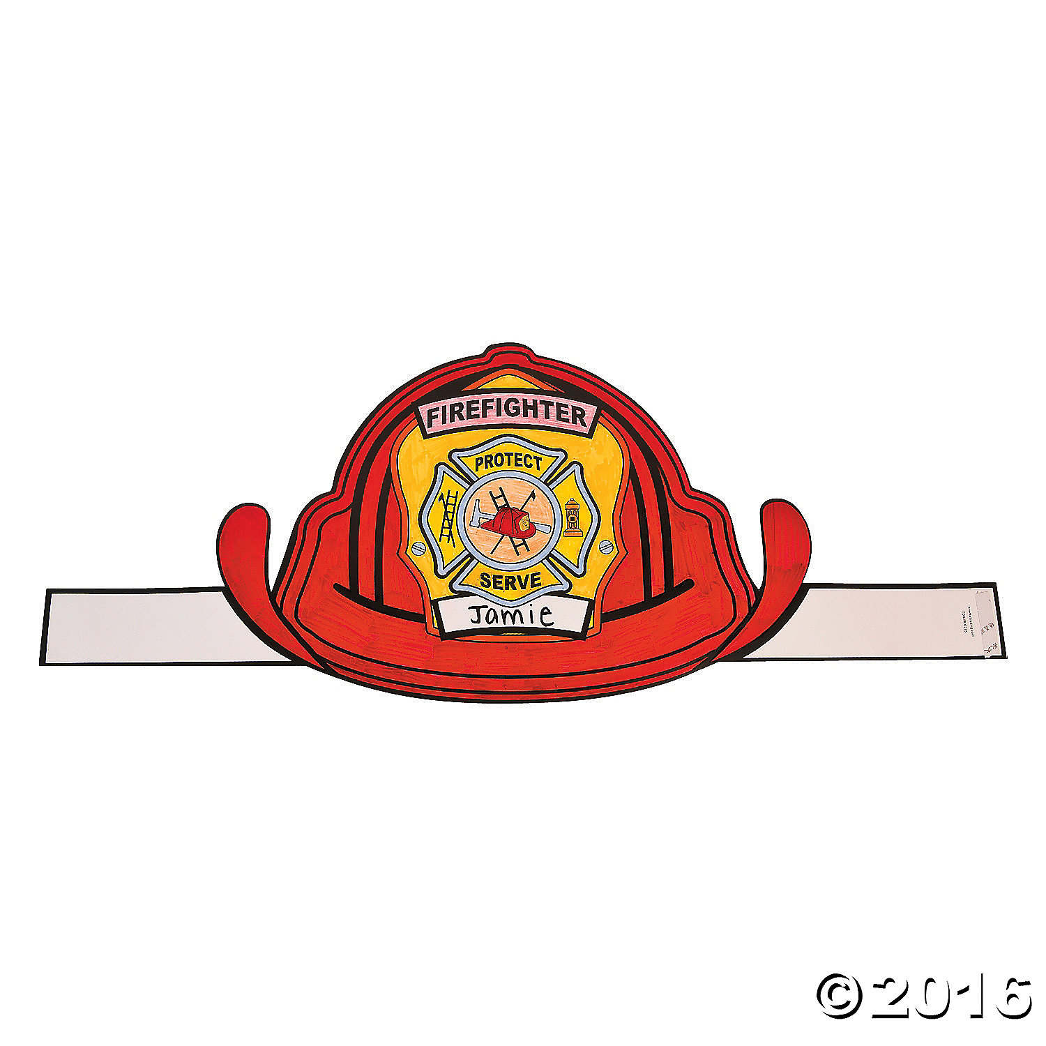 Colour In Giant Fire Hats - 12 Pack