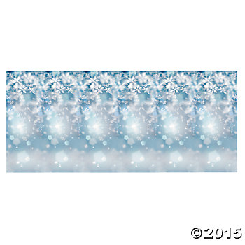 Snowflake Giant 9 Ft x 6 Ft Wall Backdrop
