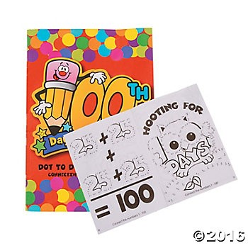 100th Day of School Activity Books - 24pk