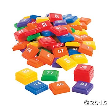 Numbered Rainbow Tiles - 202pcs