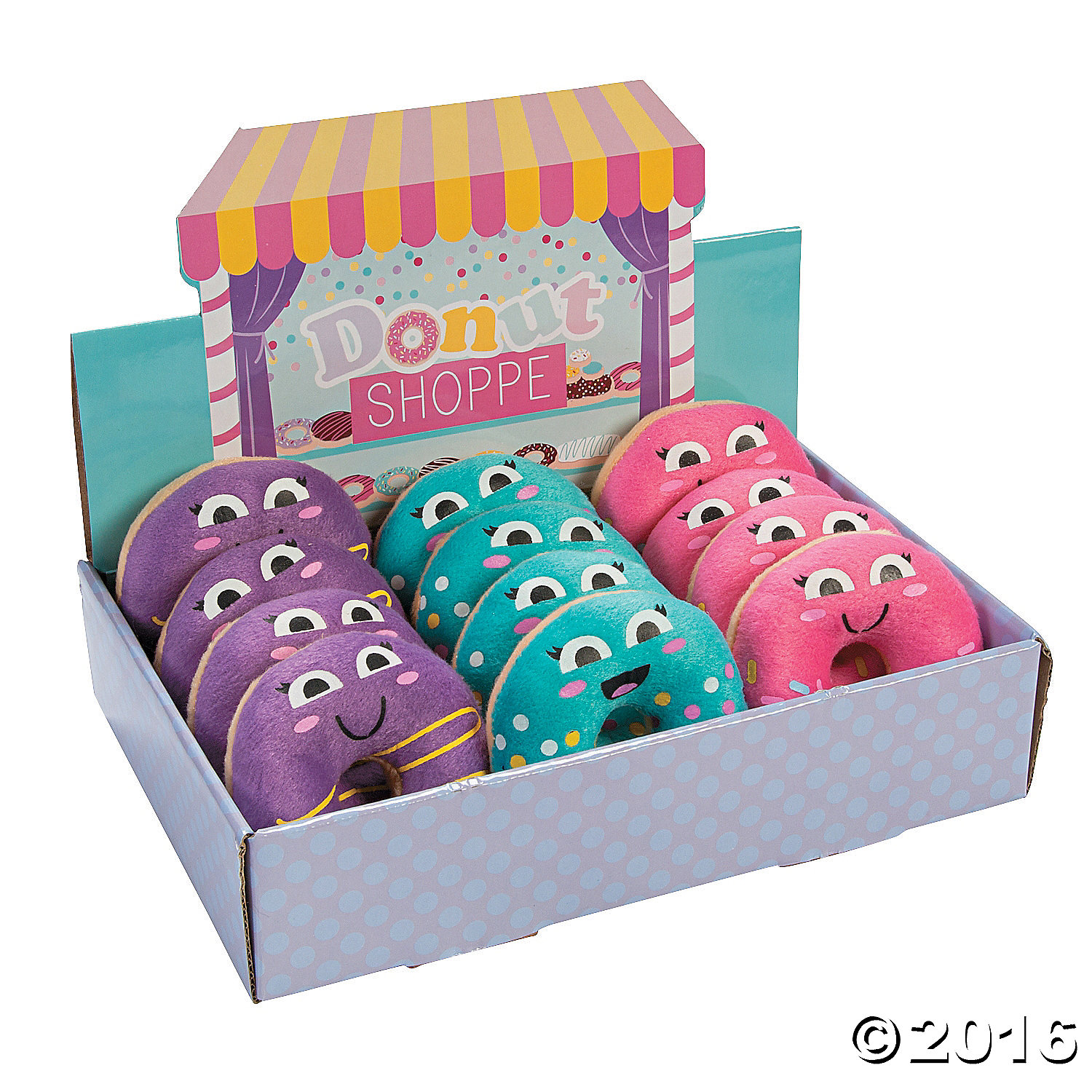 Donut Party Plush Donuts in a Box - 12 Pk