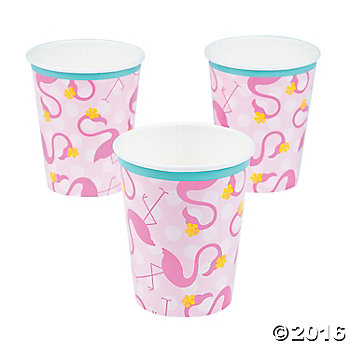 Flamingo Party Cups - 8 Pack