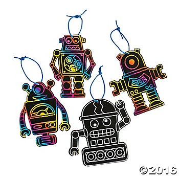 Robot Magic Colour Scratch - 24pk