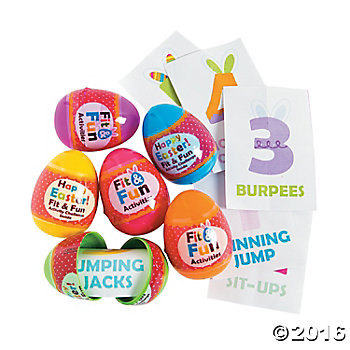 Get Fit Filled Easter Eggs - 12 Pack
