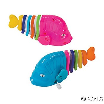 Rainbow Fish Wind-Ups - 12pk