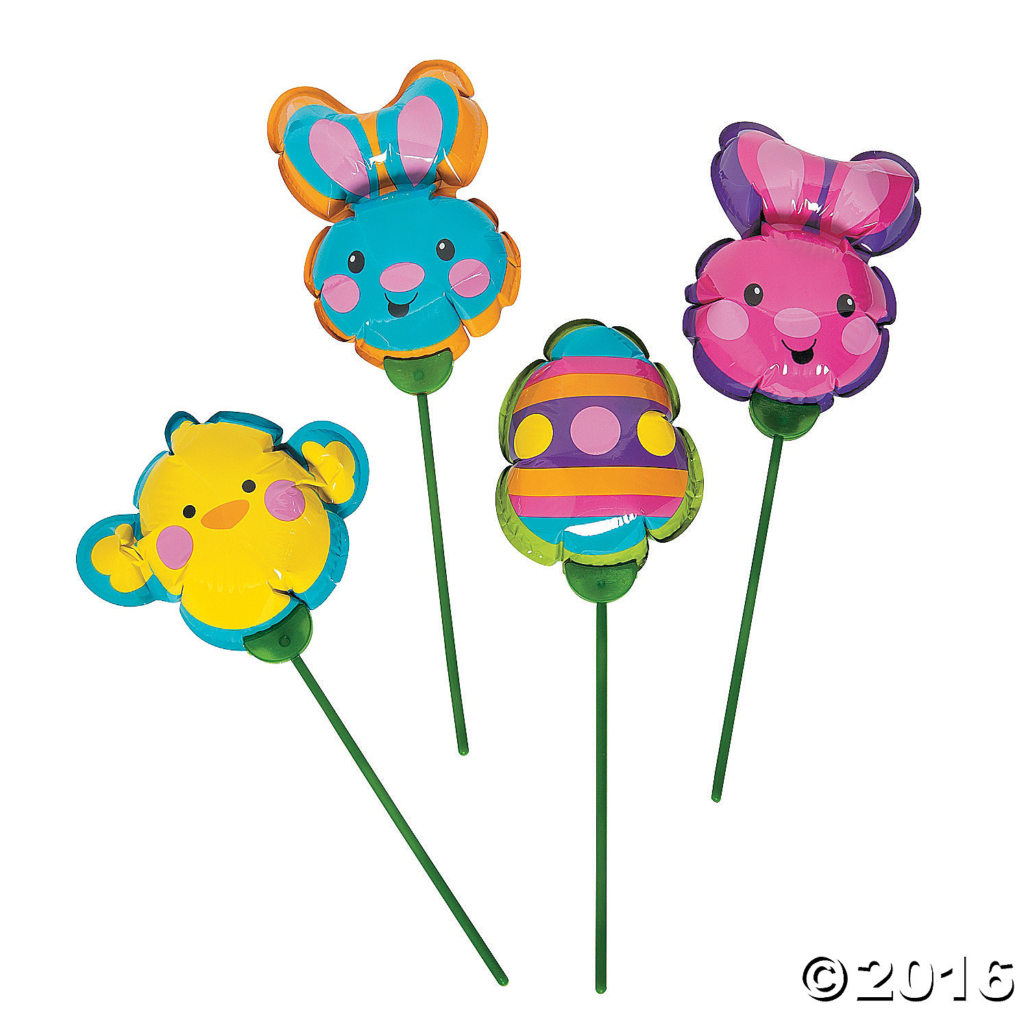 Easter Characters Self Inflating Balloons - 12 Pk