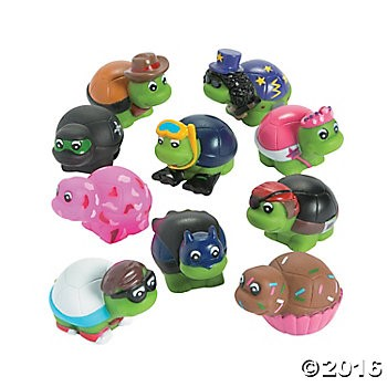 Vinyl Turtle Character Assortment - 50 Pk