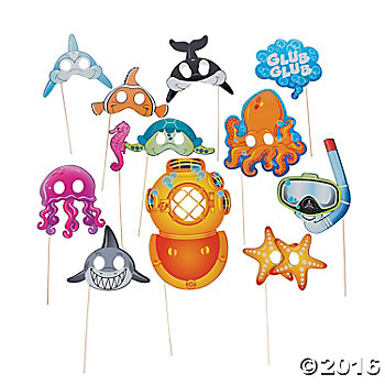 Under the Sea BIG Photo Props - 12 Pk