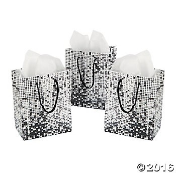 Small Sparkling Night Gift Bags - 12 Pk