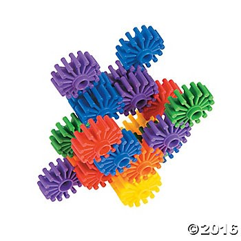 Connecting Gear Shapes - 100pcs