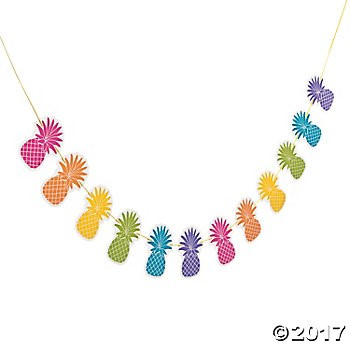 Bright Pineapple 7 Foot Garland