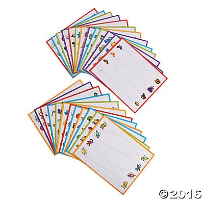 Getting Ready To Write Practice Cards - 25pcs
