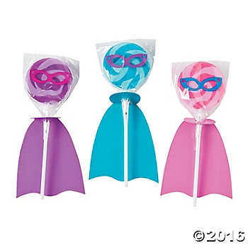 SuperHero Girl Lollipops - 12pk