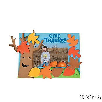 Tree Of Thanks Picture Frame Magnet Craft Kit - 12 pk