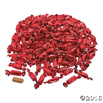 Red Foil-Wrapped Caramels - 189pcs