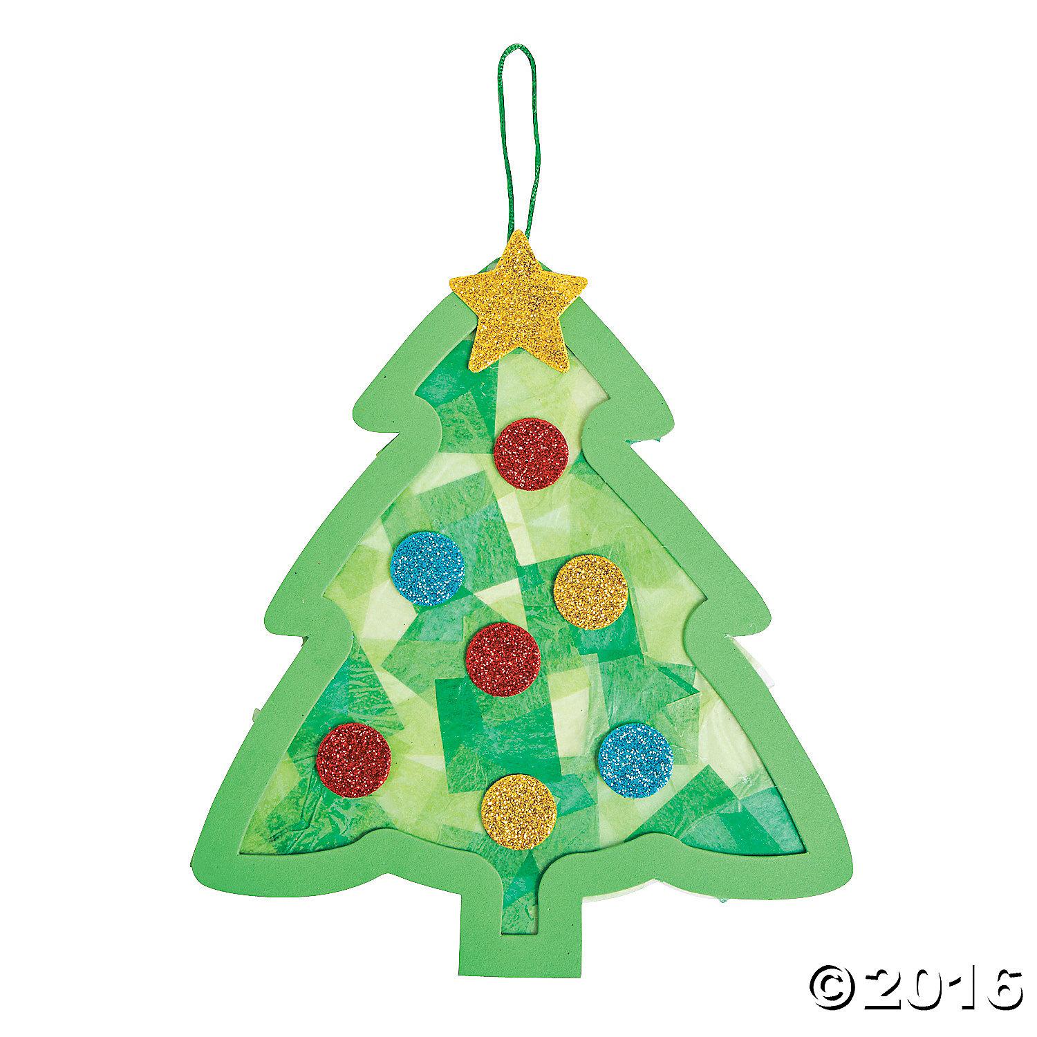 Newspaper Christmas Tree: Tissue Paper Christmas Tree Craft Kit -12Pk Party Supplies