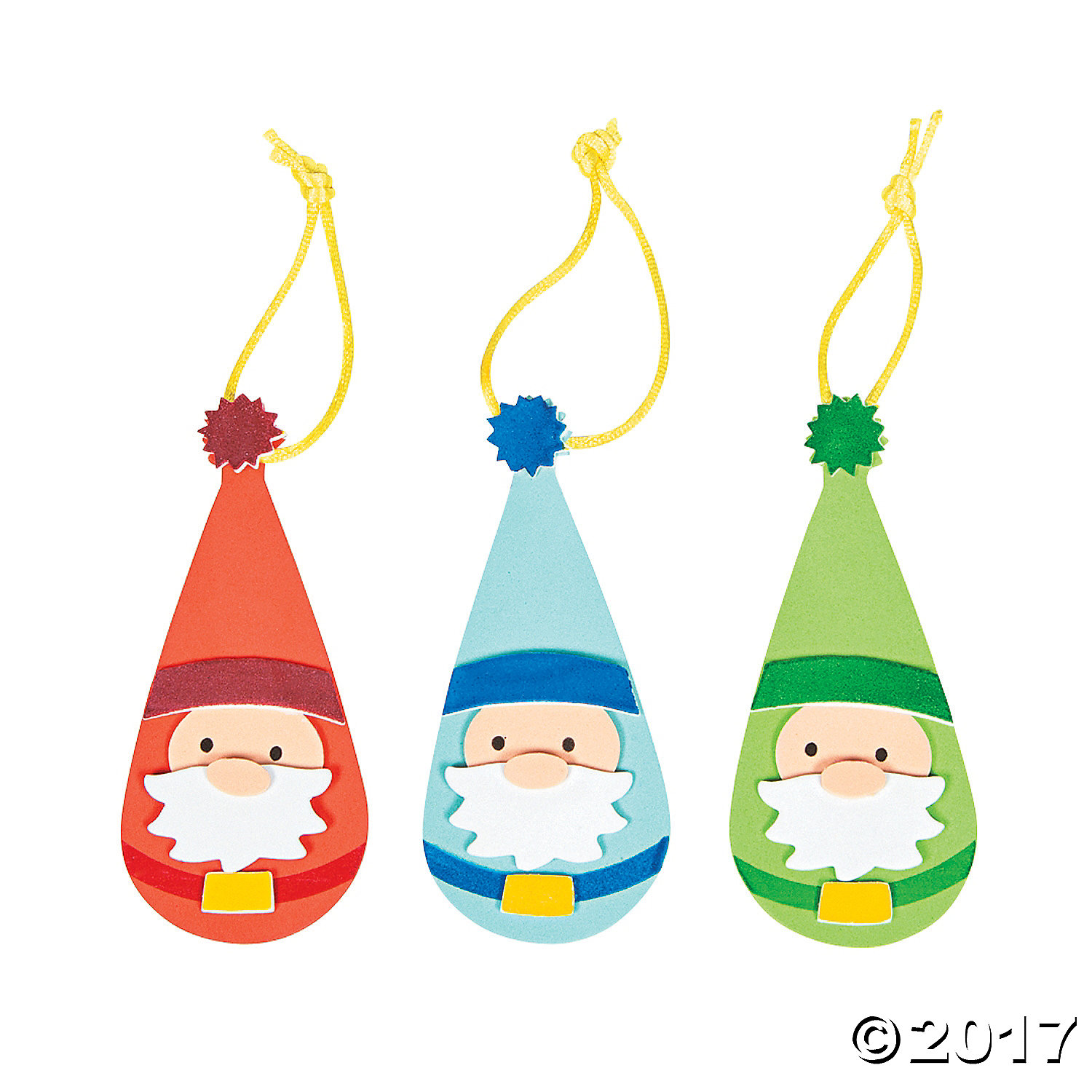 Santa gnome ornament craft kit 12pk party supplies canada for Craft kits for preschoolers