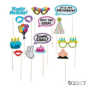Happy Birthday Photo Stick Props - 14pk