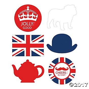 British Party 18 Cutouts 6pk