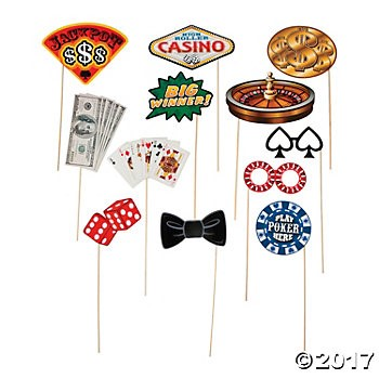 Casino Photo Stick Props - 12pk