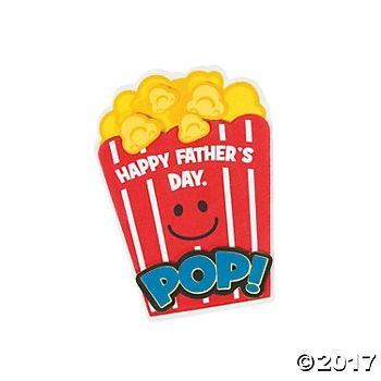 Father's Day Popcorn Magnet Craft Kit - 12 Pk