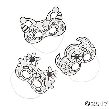 Colour Your Own Silly Monster Masks