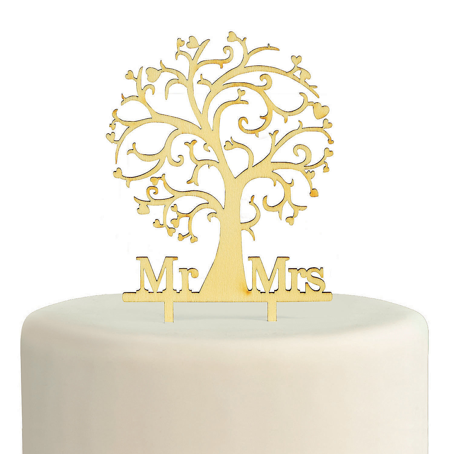Mr. & Mrs. Family Tree Wooden Cake Topper Party Supplies Canada ...