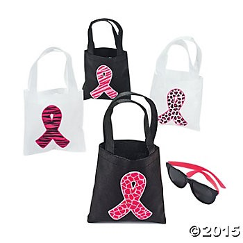 Small Breast Cancer Totes 12 Pk
