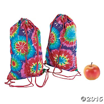 "Tie-Dyed Fabric 15"" Backpack"