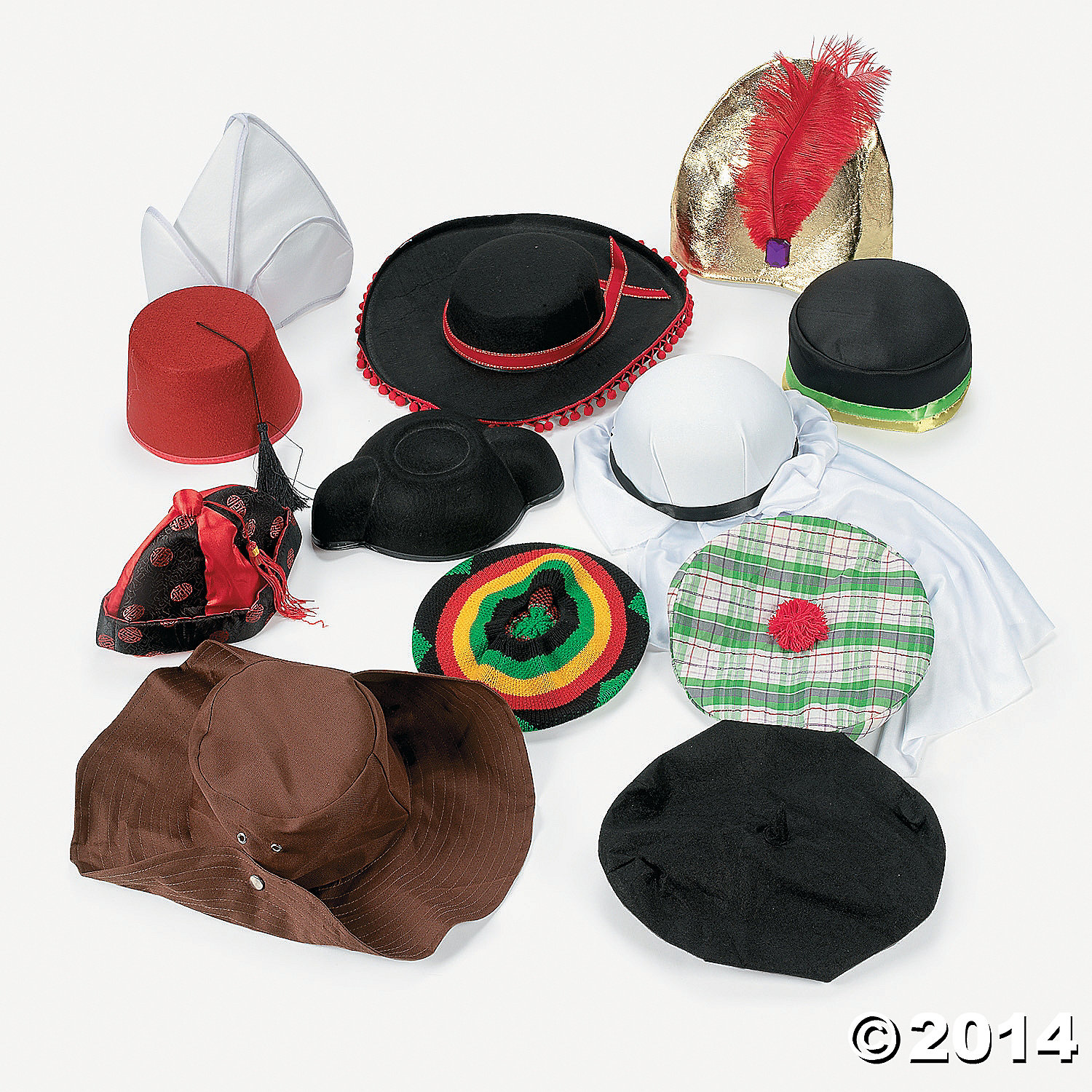 Hats Around the World Assortment 12 Pk