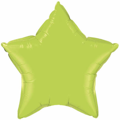 "Lime Green Star 20"" Foil Balloon"