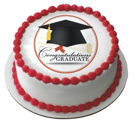 Edible Cake Images For Graduation : Graduation Cakes: Congratulations Graduate Edible Icing ...