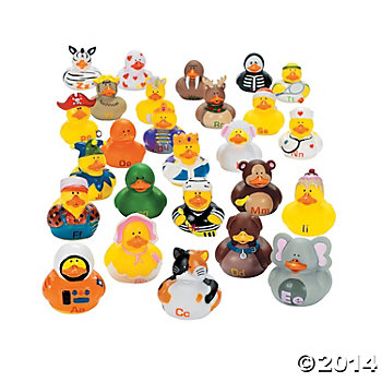 ABCs Rubber Duckies - 26 Pack