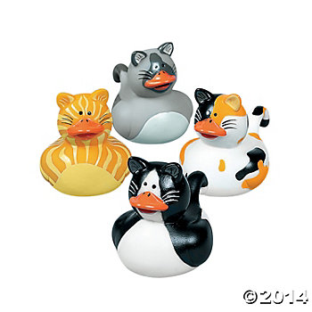 Cat Party Supplies: Rubber Duckies 12 Pk