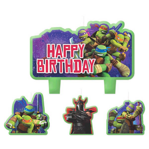 TMNT Party: Deluxe Cake Candle Set 4pc