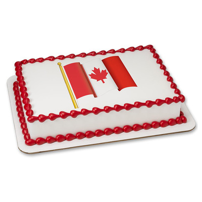 Canada Waving Flag PERSONALIZED Edible Icing