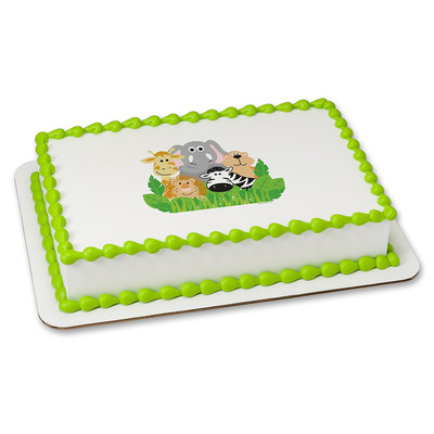 Jungle Animal PERSONALIZED Edible Icing
