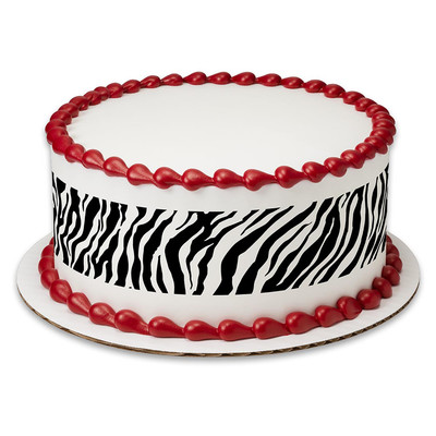 Zebra Black and White Edible Icing Cake Wrap