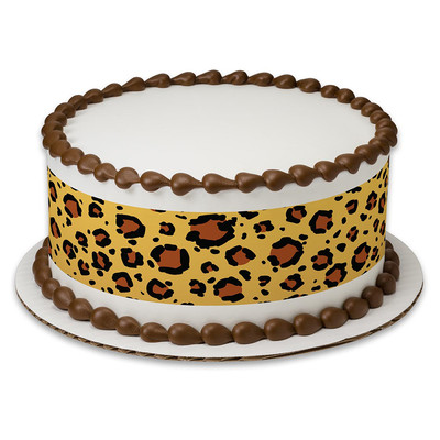 Leopard Edible Icing Cake Wrap