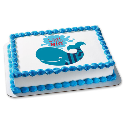 Whale Wish Big Personalizable Cake Icing