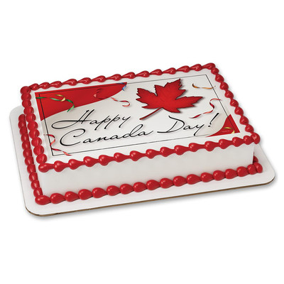 Happy Canada Day PERSONALIZED Edible Icing