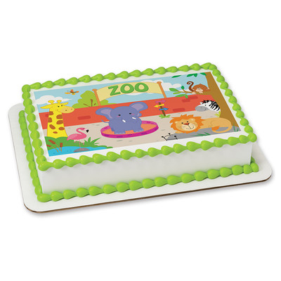 Zoo PERSONALIZED Edible Icing