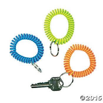 Coil Armband Keychains - 12 Pk