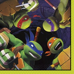 60% Off: TMNT Beverage Napkins 16 Pk