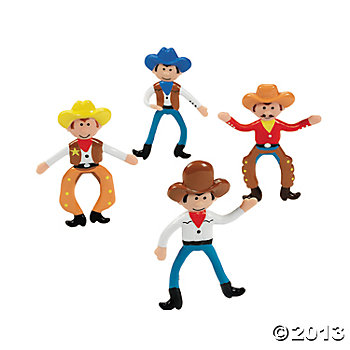Bendable Cowboys - 24 Pk