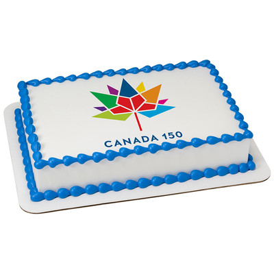 Canada 150 PERSONALIZED Edible Icing