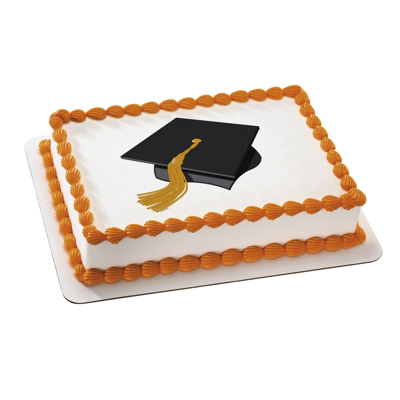 Edible Cake Images For Graduation : Graduation Cakes: Graduation Hat Edible Icing Topper Party ...